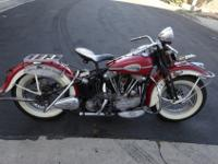 1946 FL Knucklehead. Rebuilt by Duncan Keller from the