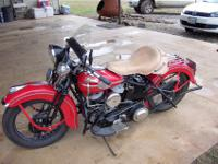 "1946 Harley Davidson Flathead UL 74""motorcycle . The"