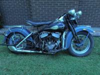 1946 Harley Davidson WL Solo. I purchased this bike in
