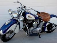 INDIAN CHIEF 1946 COMPLETELY RESTORED WITH LESS THAN 10