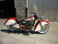 1946 INDIAN CHEIF. THE BIKE WAS LAST RESTORED BACK IN