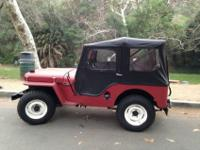 1946 Jeep Willys CJ-2 2.2LThis 1946 Willys Jeep CJ2A is