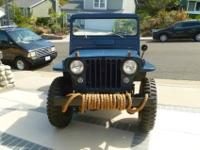 Beautifully restored 46' Willys Jeep cj2a. 5 New