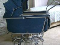 I have a baby blue 1946 Stroll-O-Chair baby carriage,