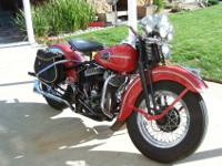 1946 Harley Davison WL45 that is in very good shape for