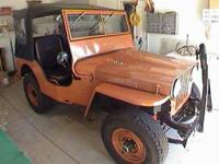 1946 Willys Jeep in Excellent Condition Penny Copper