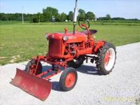 1946 farmall cub tractor, partial restored 4 years ago.