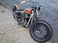 46' Knucklehead Racer.Original VIN with matching tummy