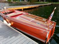 Boat was entirely restored in 2003. New double plant