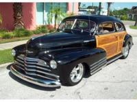 1947 Chevy Fleetline Woody for Sale, 350 V8 crate