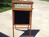1947 easel chalkboard, tilt blackboard on both sides,