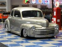 1947 Ford 2 Door Custom Coupe painted in Sahara Sand
