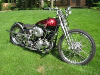 ------- 1947 FL Knucklehead Bobber. Fresh gas was
