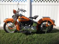 1947 HARLEY DAVIDSON FL KNUCKLEHEAD.  The bike was