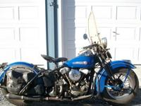 ORIGINAL PAINT 1947 Harley Davidson KnuckleheadThis