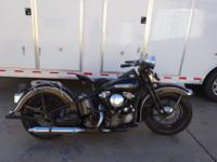 1947 Harley Knucklehead. Purchased from an old Harley