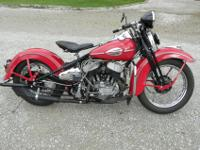 1947 Harley Davidson WL Solo. This bike underwent a