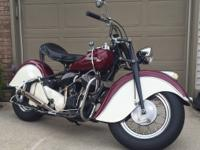 1947 Indian Chief owned since 1990, restoration