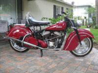 *********** 1947 Indian Chief Roadmaster. The bike