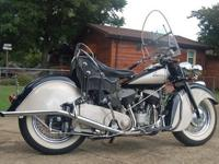 Up for sale is a totally recovered 1947 Indian Chief