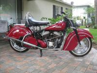 1947 Indian Chief Roadmaster. The bike comes with