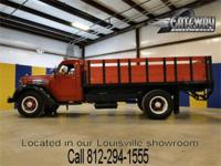 1947 International KB6 with a hydraulic dump bed with