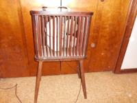 1947 Antique brown Mathes Cooler fan on four legs,