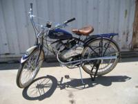 This is a 1947 Schwinn Whizzer H for sale. It was