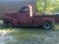 1947 STUDEBAKER P/U. BODY AND FRAME ONLY. MINOR RUST ON