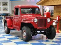 1947 Willys Overland 4X4 Pickup painted in Burgundy