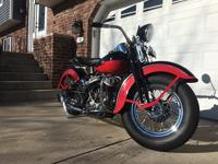 Harley Davidson 45 WL with beautiful red and black