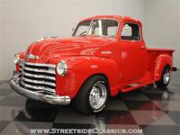 This beautiful 1948 Chevrolet 3100 pickup was finished