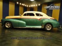1948 Chevrolet 2 door sedan street rod powered by a