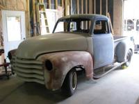 1948 Chevy Pickup (IN) - $9,495 1/2 ton pickup truck, 5