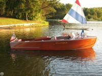 VERY RARE 1948 CORRECT CRAFT Jr. wooden runabout. This