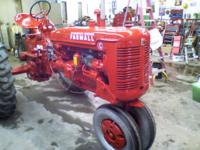 nicely restored farmall C, this tractor was completely