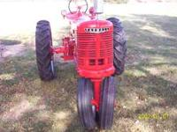 1948 Farmall H tractor and accessories, $2,500. New