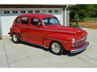 1948 Ford 4 Door Sedan for Sale. This Ford is Red in