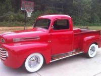 "1948 Ford F-1 Street Rod for Sale: "" Fire Engine Red,"