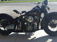 1948 Harley Davidson Panhead repro. This ground up