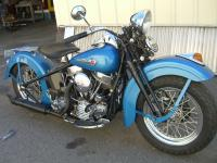 1948 Harley-Davidson FL Panhead 74 CID. The wheels and