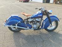 This is a 1948 Indian Chief that is professionally