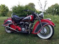 1948 Indian Chief-Beautiful bike that runs perfectly.