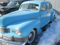 FOR SALE IS A 1948 NASH AMBASSADOR FOUR DOOR - RUNS AND