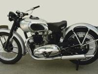 A super rare 48 Triumph. This T100 was restored. Black