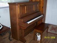 1948 upright baby grand piano made by harvard piano