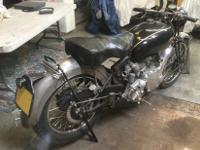 This motorcycle is for restoration. It is a matching