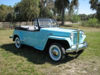 This 1948 Williys Overland Jeepster was just completed