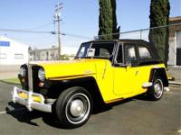 1948 WILLYS JEEPSTER CONVERTIBLE, 6 CYLINDER, 3 SPEED