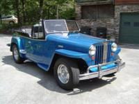 This 1948 Jeepster had a total ground up restoration